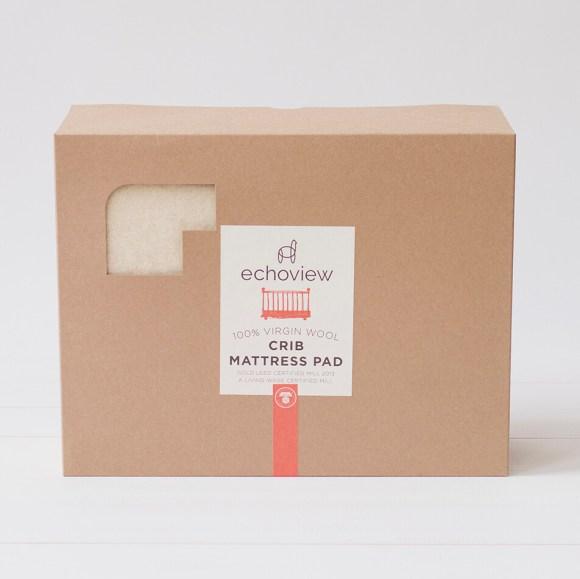 Echoview Wool Crib Mattress Pad