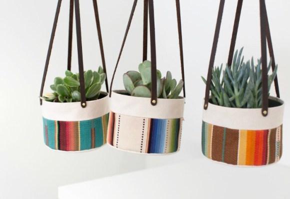 Medium Canvas Hanging Planter