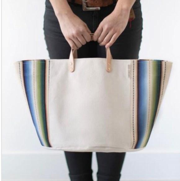 Medium Natural Canvas Basket