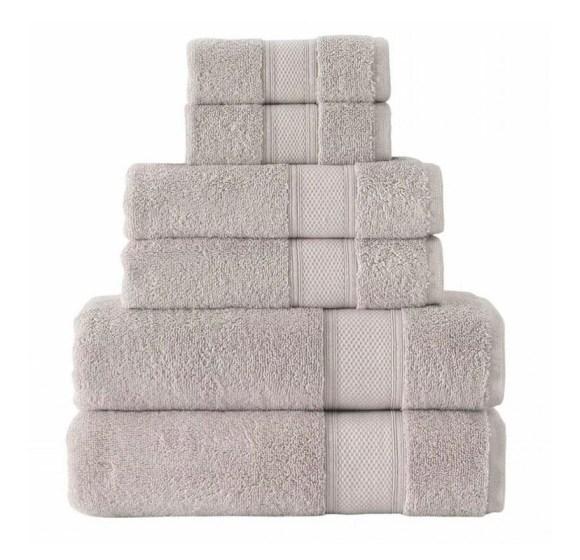 GRUND 6 Piece Organic Cotton Towels- Driftwood