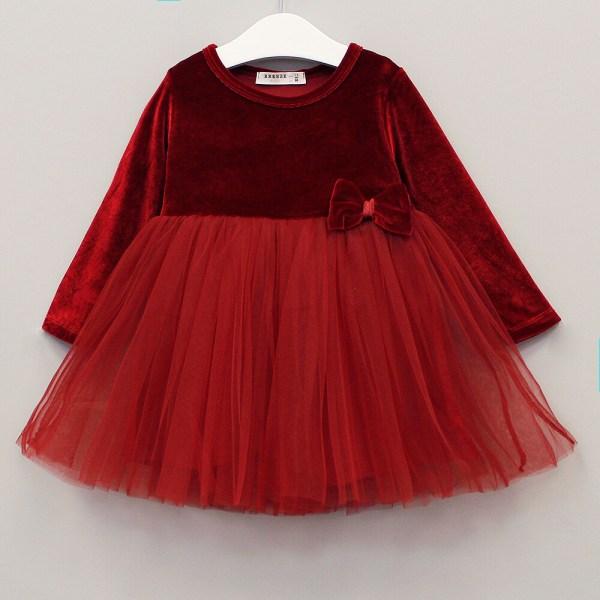 Платье для девочки из бархата с юбкой сетка