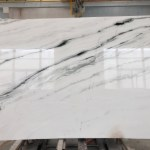 China Panda White With Black Veins Marble Slab Bookmatch