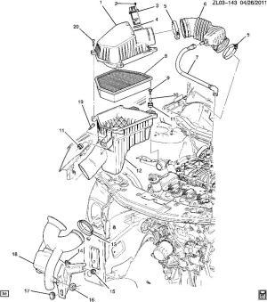 20112012 Chevrolet Equinox Captiva 30 Flex V6 PCV Tube New OEM 12639419 | Factory OEM Parts