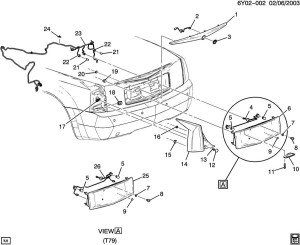 20042009 Cadillac XLR Rear Fog Lamp Wiring Harness Export Cars 15853353 10392747 | Factory OEM