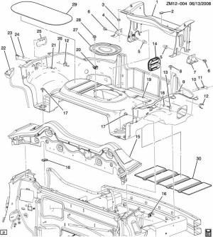 Saturn Sky Rear Compartment Brace Rear End Panel | Factory OEM Parts