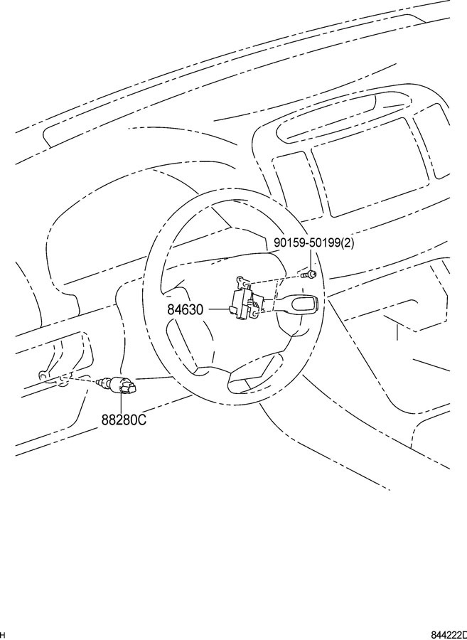 20012015 Toyota Lexus Scion Cruise Control Switch Stalk Black New 8463208021 | Factory OEM Parts