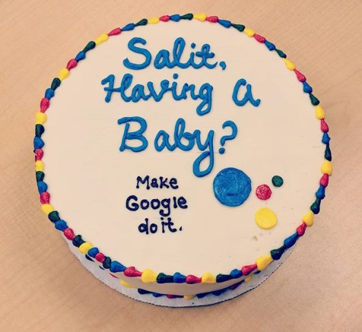 Google Baby Shower Cake