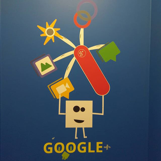 Google Bathroom Google+ Wall Art