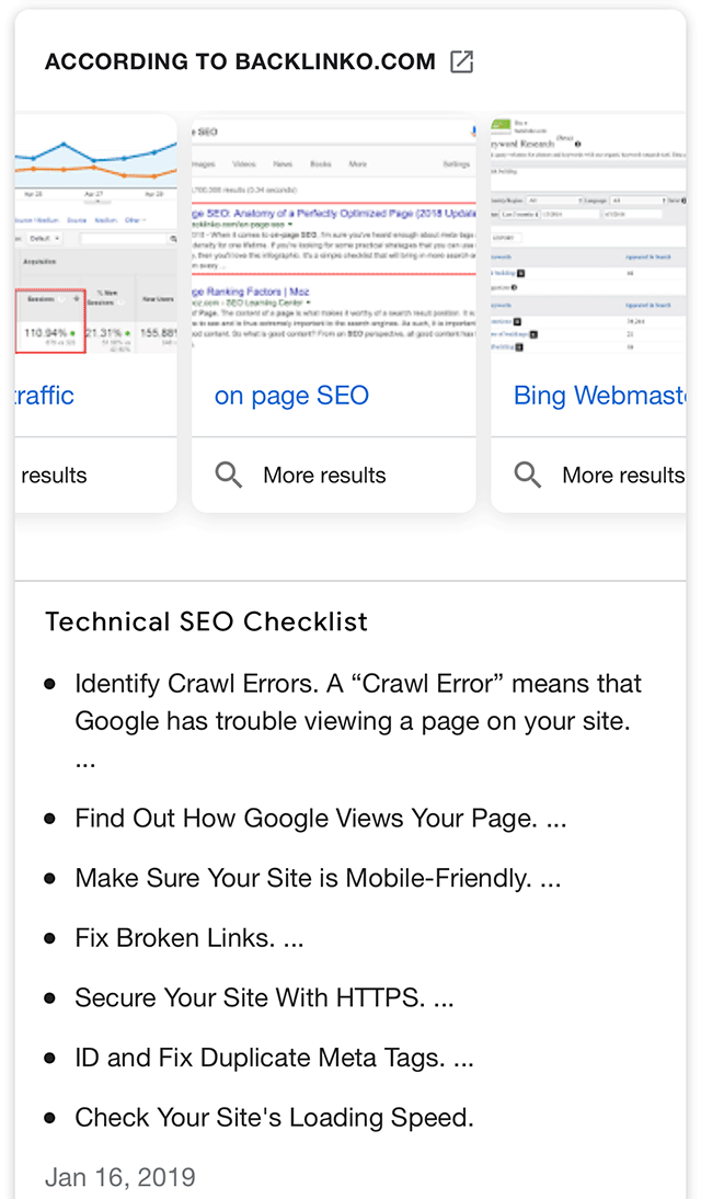 Google Featured Snippet Image Carousel To Show More Results