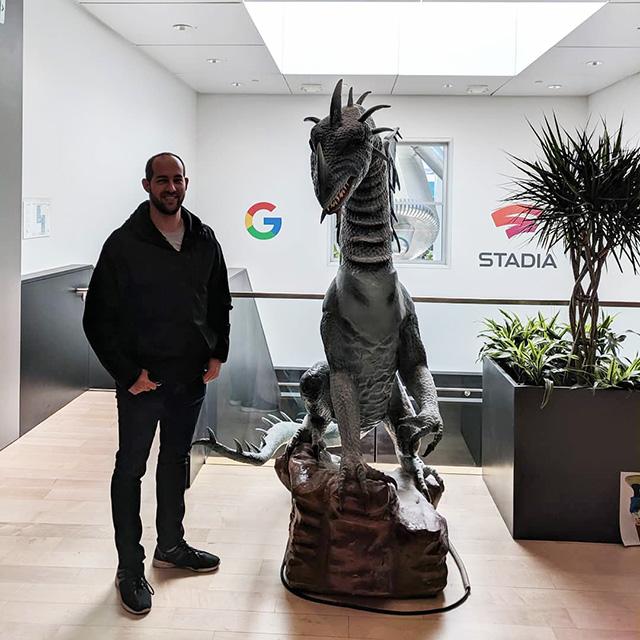 Google Indoor Dinosaur