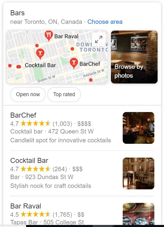 Google Local Browse By Photo