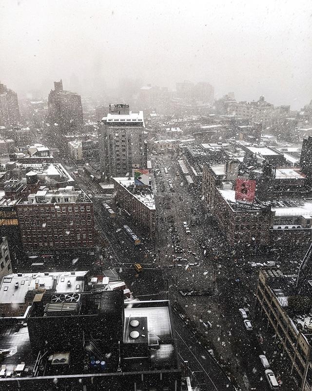 Google NYC First Snow