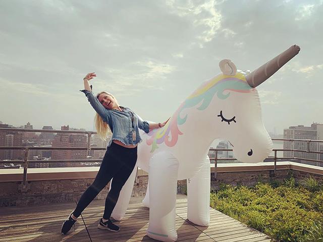 Google NYC Blow Up Unicorn