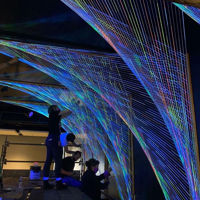 , Google Pittsburgh Parabolas String Artwork, Docuneedsph