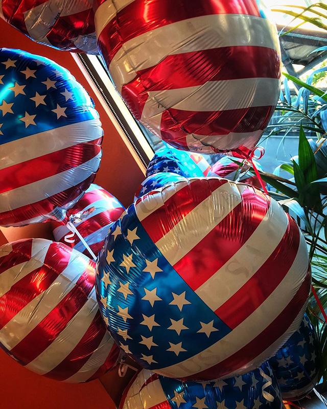 Google US Flag Balloons
