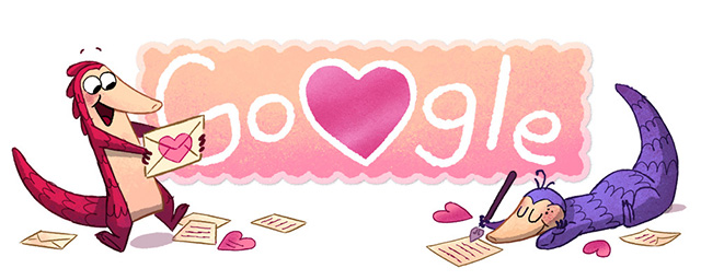 Google Valentines Day Logo What Is A Pangolin