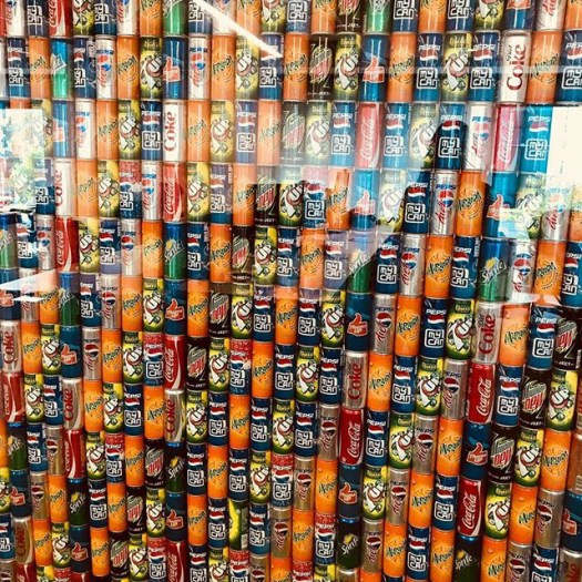 Google India Wall Of Soda Cans