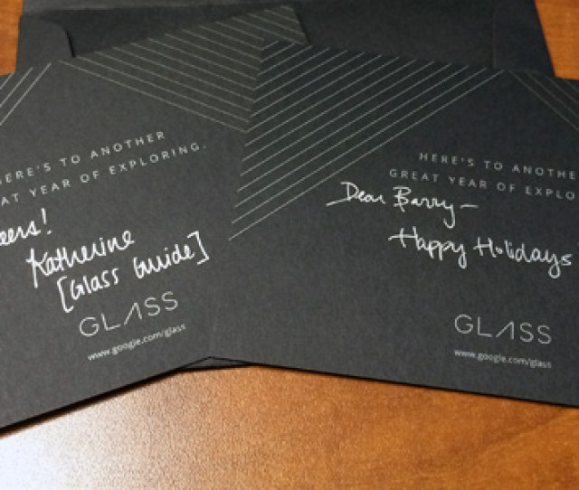Google Glass New Years Greeting Cards