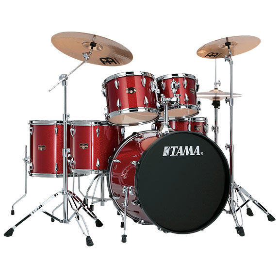 Tama Imperialstar 6pc Complete Kit w  Meinl HCS Cymbals   Drum Sets     Tama Imperialstar 6 Piece Drum Set with Hardware and Meinl HCS Cymbals    22  Bass Drum