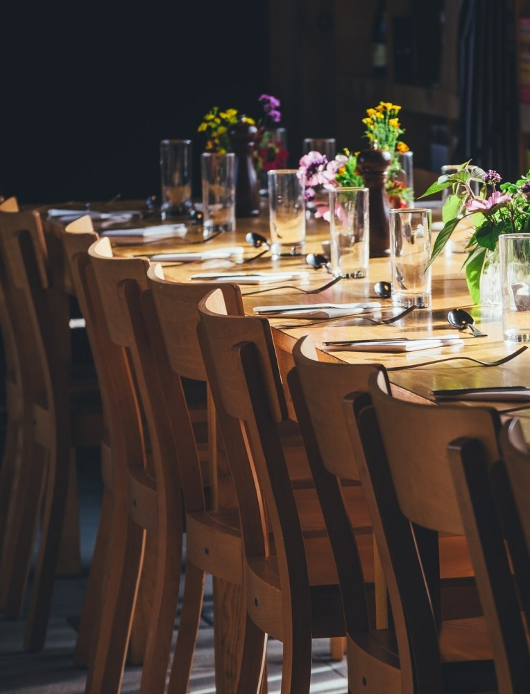 A beautiful table setup with floral decorations
