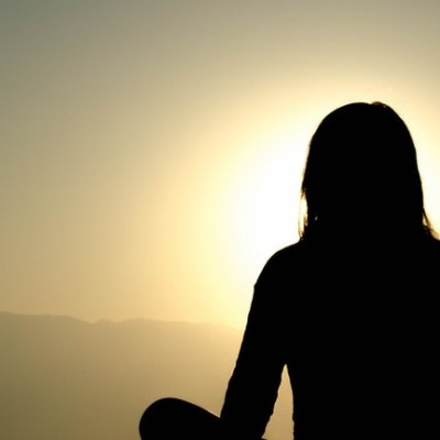 Meditating at Sunrise - Meditation For Depression And Anxiety