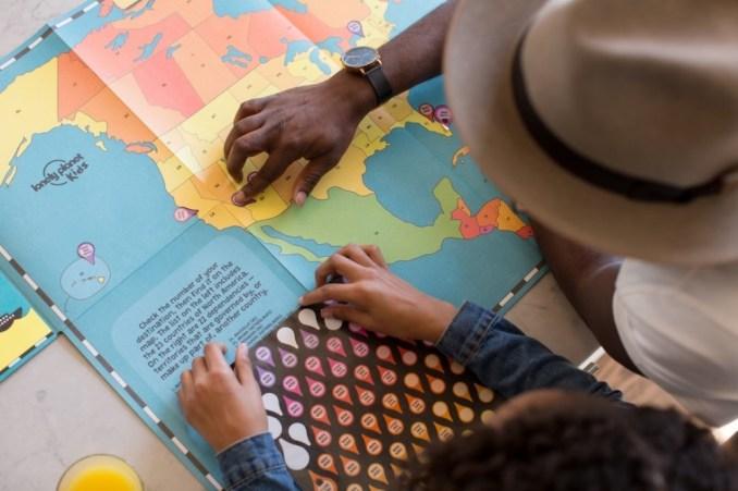 kids navigating maps