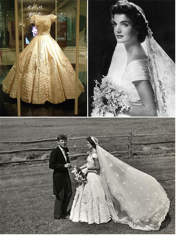 Iconic Wedding Dresses Jacqueline Bouvier The Wedding