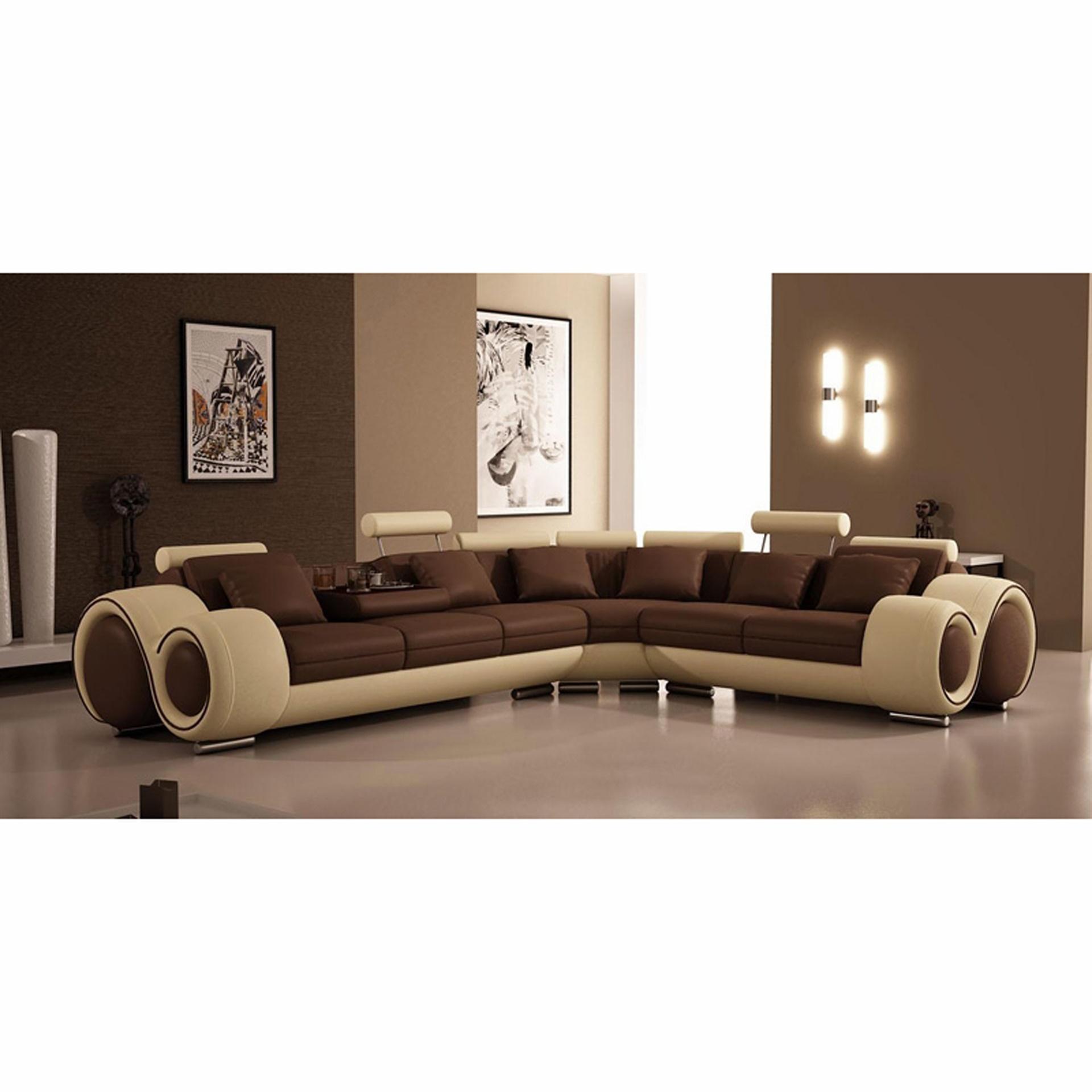divani casa 4087 modern leather sectional sofa