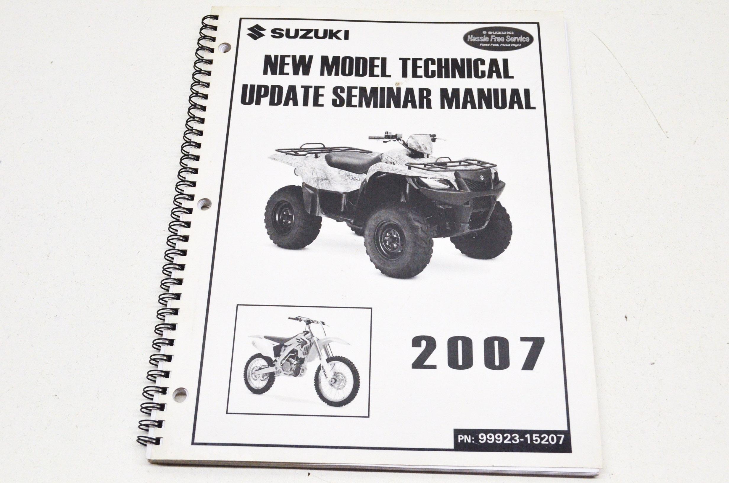 Oem Suzuki Model Technical Update Seminar 07