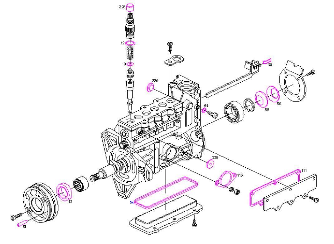 Boschsel Pump Repair Kit Seals Mercedes 300d E300