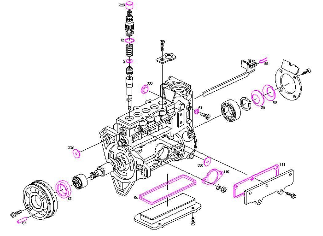 Bosch Pompesel Kit De Reparation Joint Mercedes 190d
