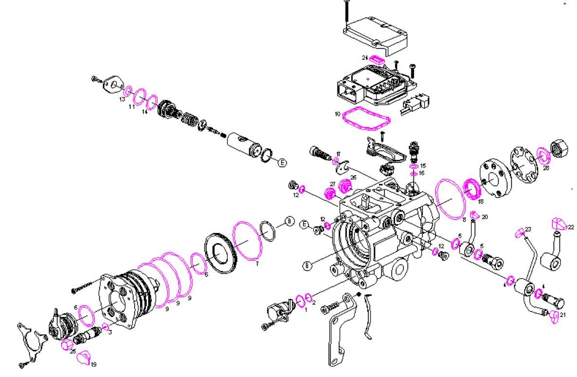 Sel Fuel Pump Repair Kit Seals Kit Gaskets Kit Bmw 320d
