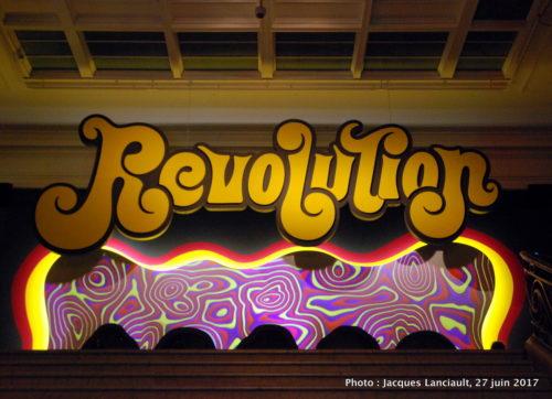 Affiche de l'exposition «Revolution», MBAM