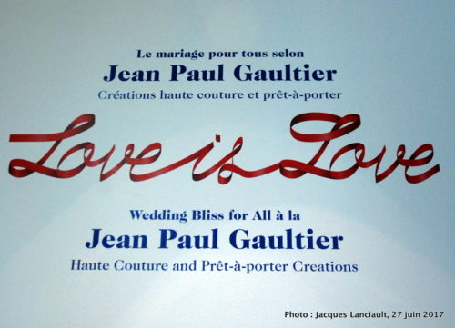 « Love is Love », Jean Paul Gaultier, MBAM