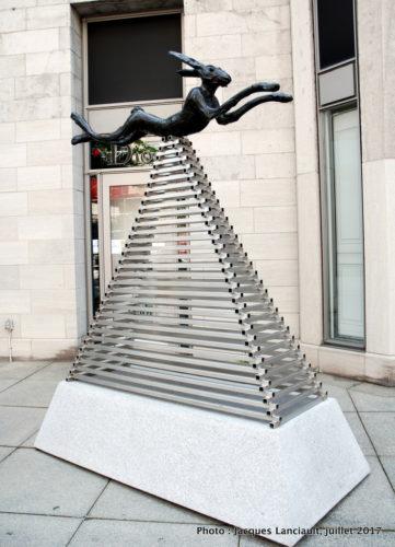 Lièvre, Barry Flanagan, Balade pour la Paix, Montréal, Québec