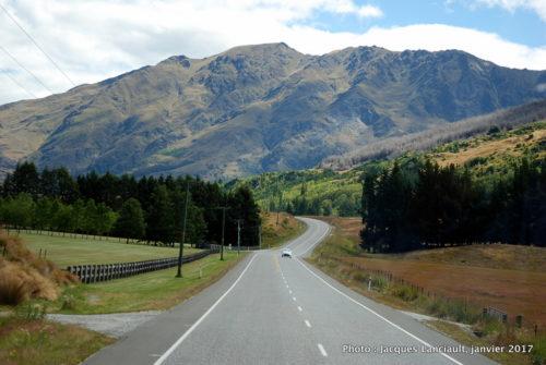 Route panoramique, Queenstown, île du Sud, Nouvelle-Zélande