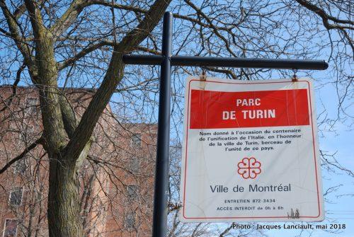 Parc de Turin, arrondissement Villeray—Saint-Michel—Parc-Extension, Montréal, Québec