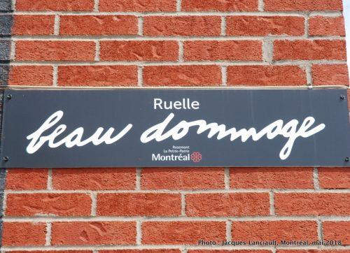 Ruelle Beau Dommage, Jérôme Poirier, Montréal, Québec