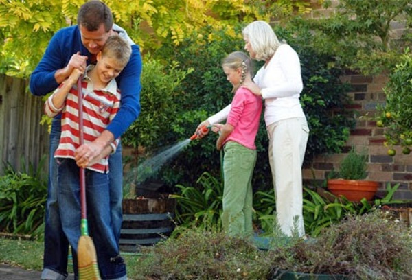 Image result for spring cleaning family