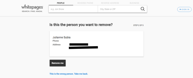 How to Remove Yourself from 411.com whitepages opt out removal