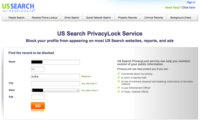 remove yourself from us search opt out removal
