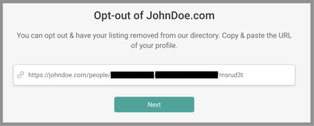 how to remove yourself from john doe opt out removal