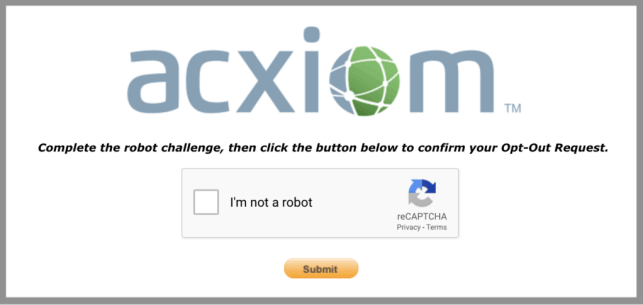 remove yourself from axciom opt out removal