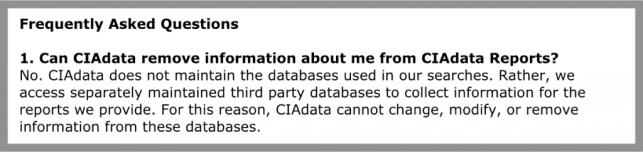 how to remove yourself from cia data opt out removal
