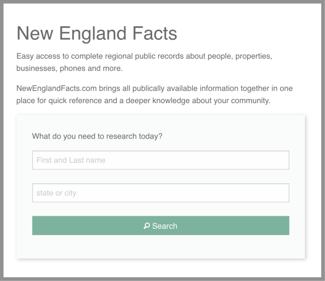 remove yourself from New England Facts opt out removal