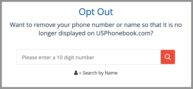 remove yourself from US Phone Book opt out removal