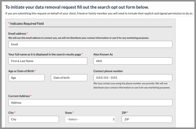 remove yourself from verispy opt out removal