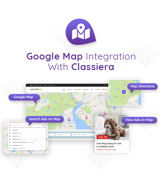 Google MAP in Classified Theme