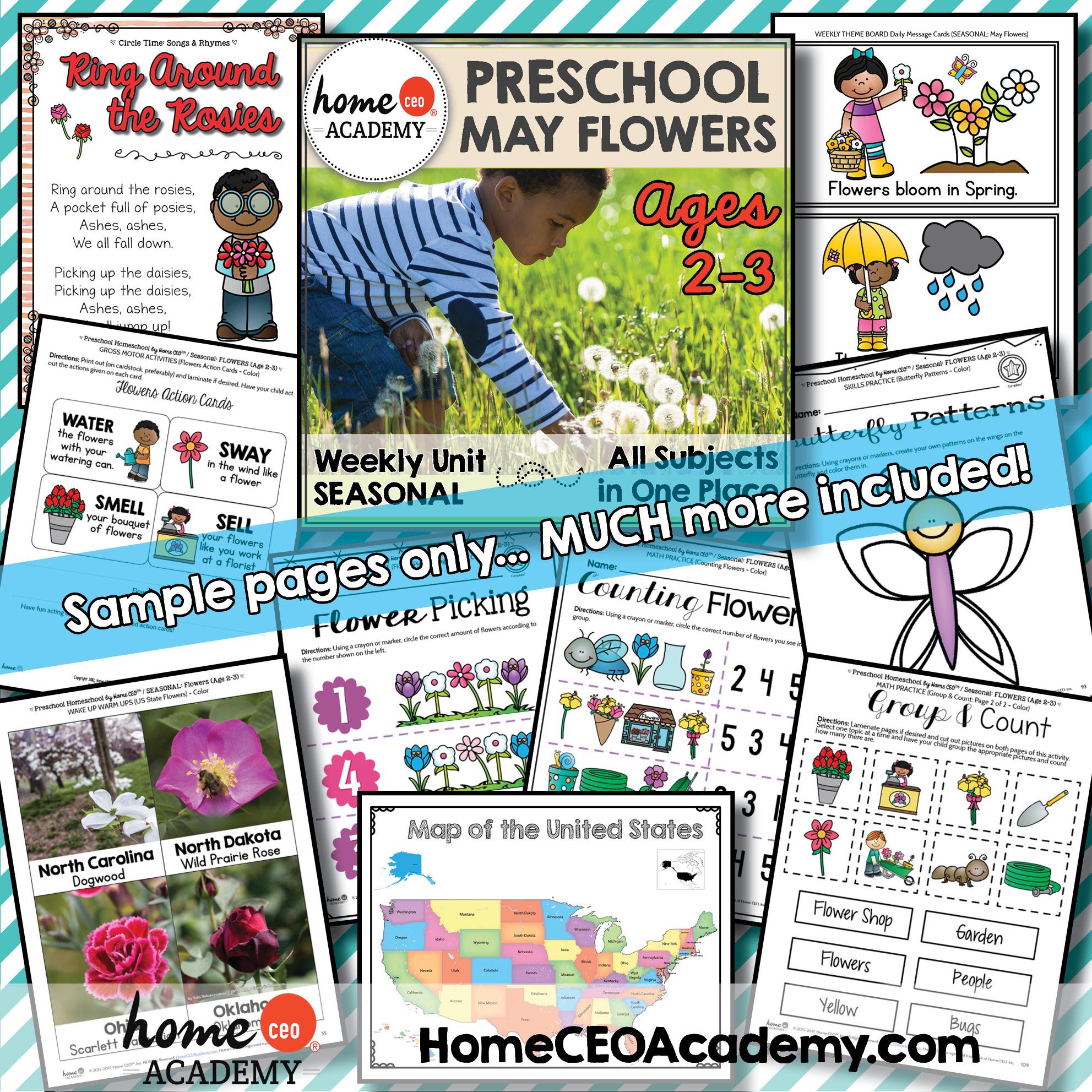 Preschool Spring Printables