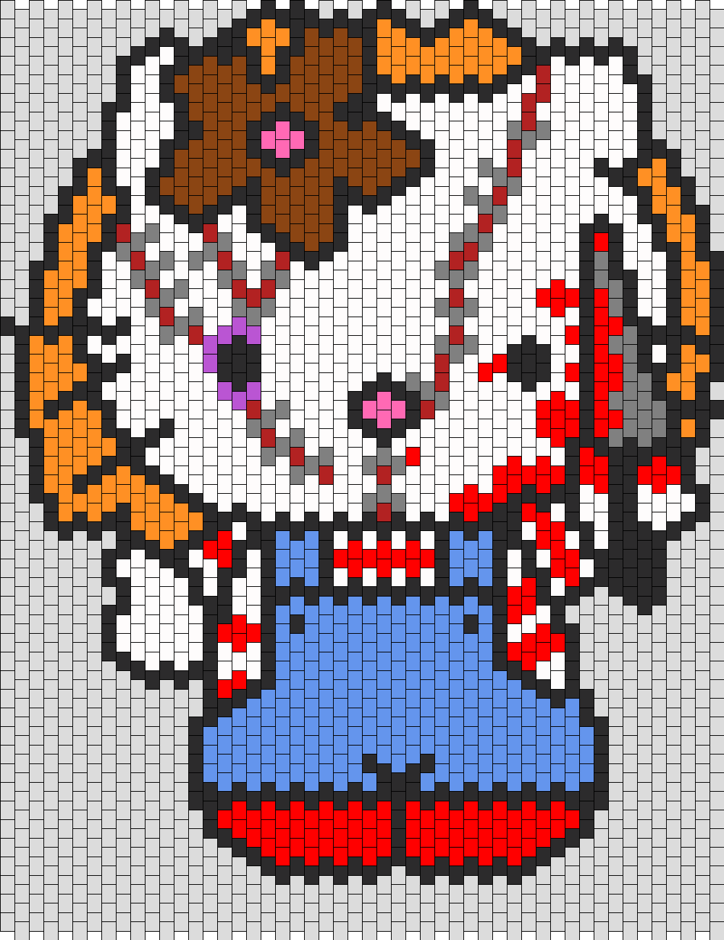 Chucky Hello Kitty Bead Pattern